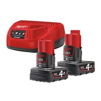 Энергокомплект Milwaukee M12 NRG-402 (Li-Ion4Ач)